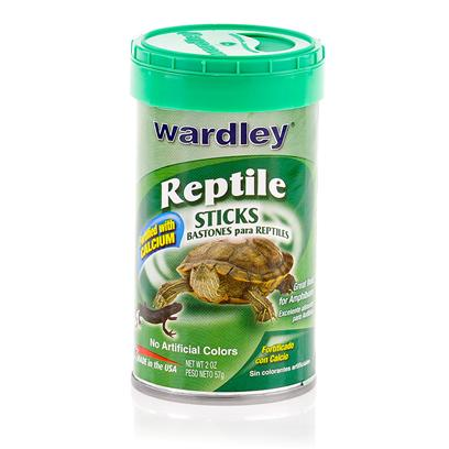 Wardley Presents Wardley Reptile Sticks 2oz. These Floating Food Sticks are a Great Way to Feed your Aqautic Reptile. Also Great for Other Reptiles, they Provide Full Daily Nutritional Values. [12609]