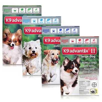 Buy K9 Advantix Ii for Dogs products including K9 Advantix Ii Blue over 55 Lbs 4 Month Supply, K9 Advantix Ii Blue over 55 Lbs 6 Month Supply, K9 Advantix Ii Red 21-55 Lbs 4 Month Supply, K9 Advantix Ii Red 21-55 Lbs 6 Month Supply, K9 Advantix Ii Blue over 55lbs 12 Month Supply Category:Spot Ons Price: from $45.99