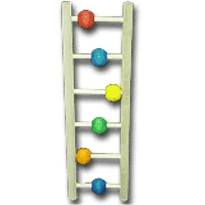Bob's Presents Bob's Ladder with Beads 12'. Try this Ladder for your Bird - Its' Colorful Beads will Entice your Bird to Exercise for Hours on End. [13036]