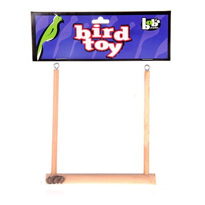 Bob's Presents Wooden Bird Swing 5''x5''. Keep your Bird Blissful with this Wonderful Swing that they will be Sure to Love. [13048]