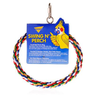 Petmate Presents Booda Swing N' Perch Small. Swing N' Perch will Provide your Bird with a Colorful Home and Hours of Fun [13075]