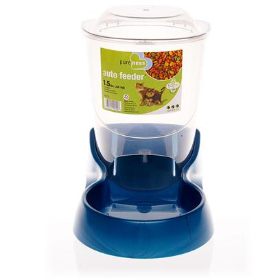 Van Ness Presents Van Ness Auto Feeder 6lbs of Food. This Convenient Feeder Holds Either 1.5 or 6 Pounds of Food for your Pet. A Gravity Feed System Allows for Constant Access to Food. [13143]
