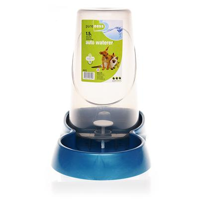 Van Ness Presents Van Ness Auto Waterer 1.5 Liters of Water. Van Ness Auto Waterer is Perfect if you are Going Away for a Few Days' and Want your Pet to have Continuous Access to Clean Drinking Water. The Waterer Comes in Different Sizes for Small to Large Dogs and Cats. [13609]