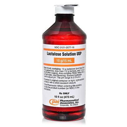 Buy Lactulose Solution 16 Fl Oz Lactulose is Prescription Laxative Used to Treat Constipation in Dogs and Cats. It is Often Used to Treat and Prevent a Liver Disease Called Portal-Systemic Encephalopathy, but it can also be Used as a Stool Softener. [13147]