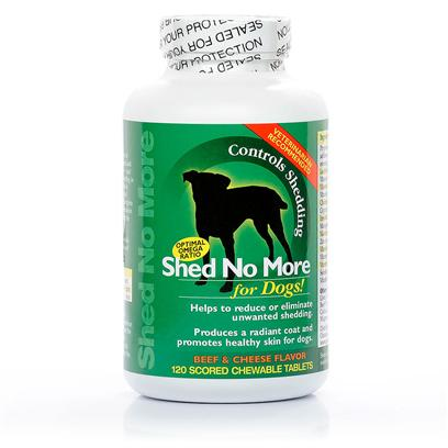 Buy Shed no More for Dogs products including Shed no More for Dogs! Beef and Cheese Flavor-240 Chewable Tabs, Shed no More for Dogs! Beef and Cheese Flavor-250 Chewable Tabs, Shed no More for Dogs! Peanut Butter Flavor-120 Chewable Tabs Category:Skin & Coat Price: from $22.95