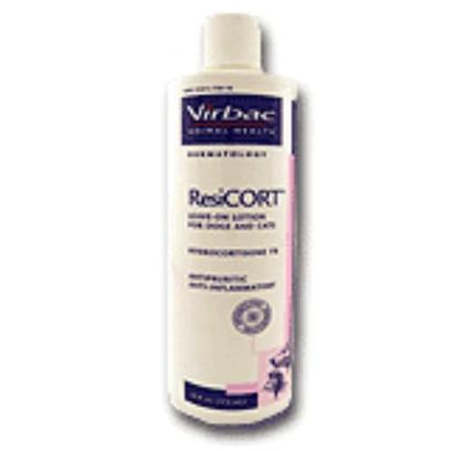 Virbac Presents Resicort 16oz Bottle. Resicort is a Leave-in Conditioner with Antipruritic and Anti-Inflammatory Elements that Provide Relief for Dogs and Cats Suffering from Corticosterioid-Responsive Dermatoses Such as Inflammation and Pruritus. [13677]