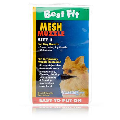 Coastal Presents Mesh Muzzle Size 1 (Nose Circumference 3'). A Safe and Comfortable Alternative to a Traditional Muzzle [13763]