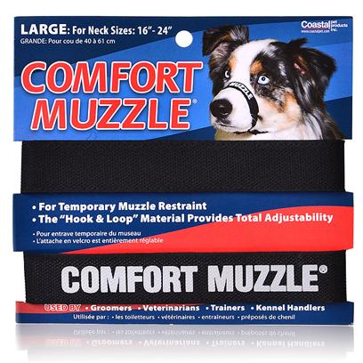 Coastal Presents Comfort Muzzle Neck Sizes 12'' to 18''. Comfort Muzzle Pet Supplies Come Really Handy when Managing Restless Dogs, Especially During Grooming, Bathing Etc. [13773]