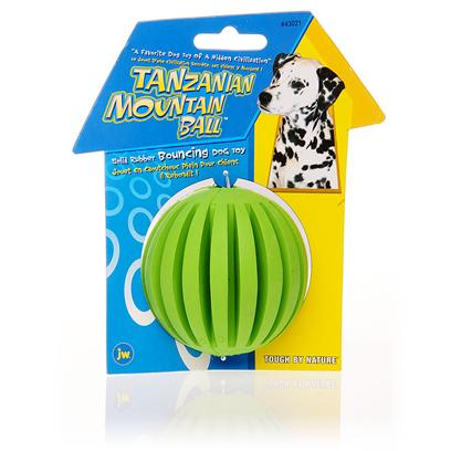 Jw Pet Company Presents Tanzanian Mountain Ball Small. The Tanzanian Mountain Ball is an Amazing Toy that would Soon Become your PetS Favorite Toy. It not just Bounces Stupendously; it also it Great for Gnawing. [13845]