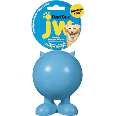 Jw Pet Company Presents Good Cuz and Bad Small. Cuz Toys are Simplistically Designed Pet Supplies that Come in Two Cute Varietiesthe Good Cuz for the Angelic Pooch, and Bad Cuz for the Naughty as Hell Canine. The Latter Comes with Adorable Devil-Like Horns. We Know You'll Love how Each Cuz has it's Own Exclusive Squeak Sound. These Cute Little Walkers will Definitely Keep your Dog on it's Toes. [13849]