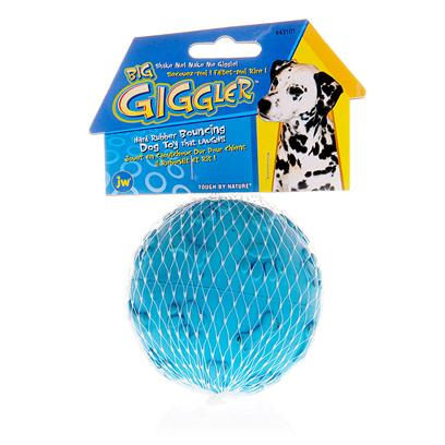Jw Pet Company Presents Big Giggler Ball. Is a Tough Rubber Ball that Bounces Like Crazy and Makes a Silly Giggling Noise when it Does! Watch your Pet Go Bonkers Playing with this Fun Toy. [13855]