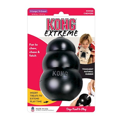 Kong Company Presents Kong Classic Xtreme Large. A Big Chew for Strong Jaws Kongs are Widely Recommended as the Best Non-Toxic, Super Durable Dog Toys that also Help Pets Deal with Debilitating Issues Like Incessant Barking, Digging and Hyperactivity. It can Even Help with Separation Anxiety and Bouts of Ennui. The Kong Xtreme is the Most Durable of Kong'S Extensive Toy List. Kong Xtreme is Made from Flexible, Puncture Resistant, and Splinter-Proof Rubber. There'S a Big Empty Cylinder in the Center that can Hold Treats, a Glob of Peanut Butter, or Anything Else Delicious that will Occupy your Dog for a Long Stretch of Time. Pooch will Forget his Woes while Nosing and Chewing the Kong Xtreme Till the Treats Come Out. Kong Xtreme is Used Worldwide by Police, Drug Enforcement, and Military K-9 Teams, as Well as Schutzhund and Akc Competition Trainers! [13881]