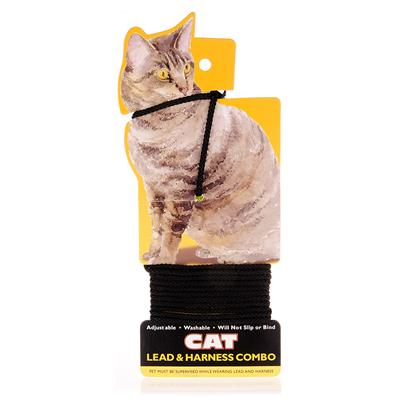 Coastal Presents Braided Cat Lead &amp;Amp Harness Combo Black. Some Kitties will do Anything to Get a Peek Outside. Let your Cat Explore the Great Outdoors Safely with the Braided Cat Harness &amp; Lead. The Foot Braided Harness and Lead Combination is Self Adjustable, Guaranteeing that it Won't Slip or Bind. With its Adjustable Clasp, the Harness is the Perfect Size for any Cat. The Harness and Lead Combo is Washable, so you can Let her Roll Around in the Grass as Much as she Likes. You'll have a Happy and Safe Kitty. [14021]