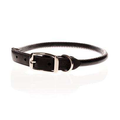 Buy Round Leather Collars Black 24'' Round Leather Collar is an Exclusive Pet Care Product that Offers a Unique Combination of Style and Durability, Keeping your Pet Safe, Comfortable, and Attractive. [14042]