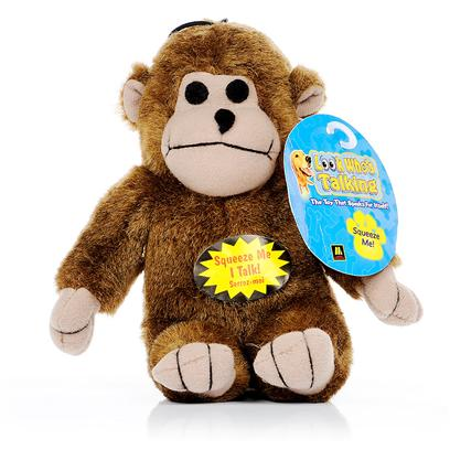 Multipet Presents Look Who's Talking Plush Animal Friends Monkey. With Talking Plush Animal Friends, your Dog or Cat will Enjoy Hours of Endless Fun. These Adorable Plush Toys Come in Four Animal Types  Frog, Cow, Monkey or Pig. Each Toy Emits an Individual and Attention Grabbing Noise when Squeezed or Bitten. You no Longer have to Worry About how to Keep your Pet Entertained. Talking Plush Animal Friends will do Take Care of that for You! [14152]