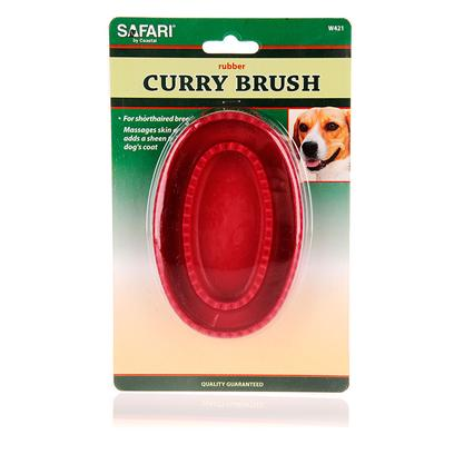 Safari Presents Safari Rubber Curry Brush. Is Perfect for Use on Dogs with Short Hair. It will Give your PetS Coat an Added Sheen, while at the Same Time Massage their Skin. [14202]