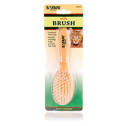 Safari Presents Safari Cat Bristle Brush. Brushing Distributes Natural Body Oils, Leaving a Shiny, Healthy Coat. This Brushes Sturdy Nylon Bristles Gently Loosen Tangles, and Remove Debris. Regular Brushing with this Bristle Brush Helps Prevent Hairballs. [14220]