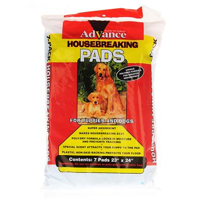 Coastal Presents Advance House Breaking Pads 7 Pack. Advance House Breaking Pads are an Essential Tool to Housebreak your Pet. Simply Place it on the Floor and your Pet will be Naturally Attracted to its Carefully Designed Scents. Advance House Breaking Pads can Hold Up to 100 Times their Weight in Fluids Due to Polymer Crystals Inserted into the Pad, Meaning they Last Longer than Other Pads on the Market. They are also Backed with Plastic, Preventing Anything from Leaking out to the Other Side Onto your Floor. These Pads can be Placed Anywhere, Whether Indoors, Outdoors or Even in a Car for Traveling. They have a Non-Slip Surface and are Good for any Surface Type. Advance House Breaking Pads Come in a Convenient Size, Good for Pets of all Ages and Sizes. Veterinarian Recommended, these Pads are a Great Buy. Go out and Get some for your Pet Today! [14226]