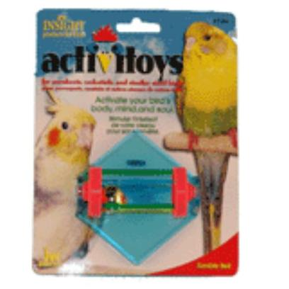 Jw Pet Company Presents Tumble Bell Bird Toy. A Spinning Cylinder with a Bell Inside that is Mounted on the Side of your Bird's Cage. It will Provide your Bird with Much Needed Exercise and Stimulation. [14324]