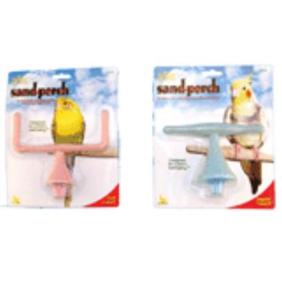 Jw Pet Company Presents Sand Perch T-Perch Small. A Sand Perch that Provides your Bird with a Place to Perch as Well as Groomits Nails and Beak, and Develop its Claw Strength. [14350]