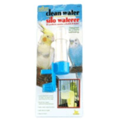 Jw Pet Company Presents Silo Waterer Regular. The Silo Waterer is a Unique Product with a Difference that lets you Fill Water into the BirdS Cage without any Trouble. It is Equipped with a Special Valve that Takes Care of Spilling and Dripping and Fills Water without Mess. You DonT Even have to Put your Hand into the Cage to Fill Water as it can be Easily Filled from the Outside of the Cage [14354]