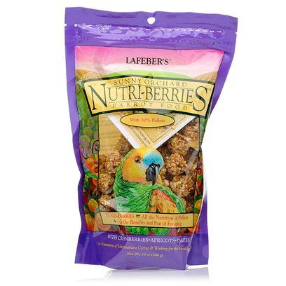 Lafeber Company Presents Lafebers Sunny Orchard Nutri-Berries Parakeet &amp; Cockatiel Food-10oz Bag. Birds can be Picky Eaters and this can Lead to Severe Nutritional Deficiencies. When Birds are Fed Seeds, they Choose only a Few and Leave the Rest Out. So, how do you Ensure your Pet Avian is Healthy? The Avian Nutritionists at Laferber have Created a Product that Meets all Nutritional Dietary Requirements of Pet Birds LafeberS Sunny Orchard Nutri-Berries. [14370]