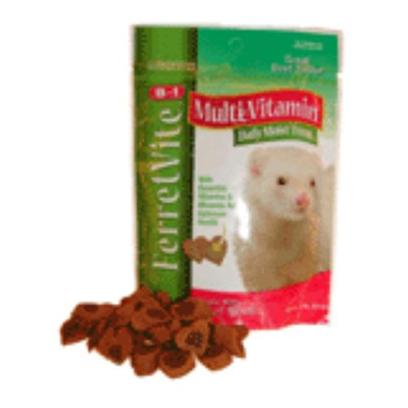 8 in 1 Presents 8 in 1 Ferretvite Multi-Vitamin Daily Moist Treat 3oz. Ferretvite Daily Vitamin Treats Provide Essential Vitamins and Minerals Needed by your Ferret to Maintain Optimal Health. Made with Delicious Ingredients Including Real Beef! [14742]