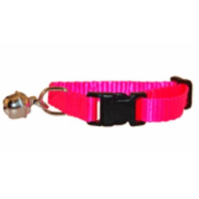 Marshall Presents Ferret Bell Collar Hunter Green. Made with 3/8' Sturdy Flat Nylon and Fully Adjustable, Marshall Bell Collars are Designed Specifically for the Anatomy of Ferrets and Guaranteed to Work on any Size Ferret. Fully Adjustable with Quick Snap Buckles for Easy on/Off. Enables Ferrets to be Heard when Outside of Cages.Red [14762]
