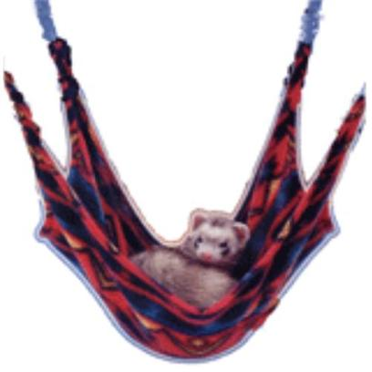 Lazy Pet Presents Ferret Leisure Lounge. Your Ferret will Love Hanging out in this Comfy Lounger. Measures 16''w X 22''l and is Larger than Traditional Cage Hammocks. Clips Easily to Most Wire Cages. Assorted Colors. Product Color and Pattern may not Match the Image Displayed. [14755]