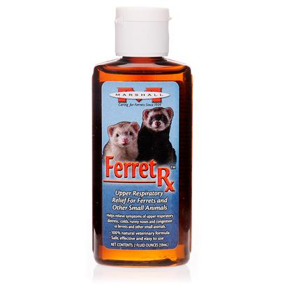 Marshall Presents Ferret Rx Respiratory Remedy. Upper Respiratory Remedy for Ferrets. Aids Ferrets that have Runny Noses, Head and Chest Congestion and Labored Breathing. Natural Ingredients Work to Open Nasal Passages and Increase Oxygen Flow. 2 Oz. [14789]