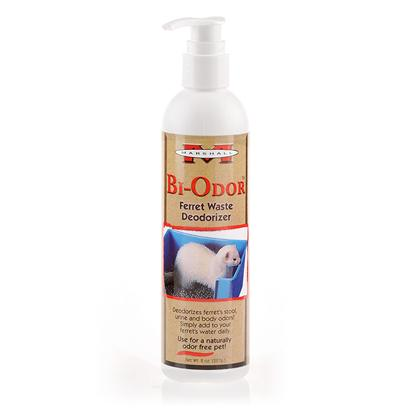 Marshall Presents Bi-Odor Ferret Waste Deoderizer 8oz. Bi-Odor is a Revolutionary Product that when Added to your Pet's Food or Water Daily, Eliminates Stool, Urine and Body Odors Internally. Contains a Patented Blend of Amino Acids and Enzymes. 8oz. [14799]