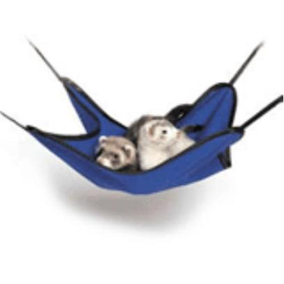 Buy Simple Sleeper Ferret Hammock is the Perfect Playtime Accessory for Ferrets and Other Critters that Provides a Comfortable Spot to Snuggle and Nap After Fun and Play. The Hammock Comes with Four Strong Clips so you can Position and Safely Attach your Hammock to any Wire Pet Home. 14''x14'' [14811]