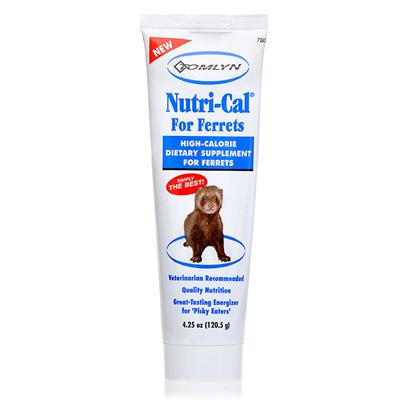 Tomlyn Presents Nutri-Cal High Calorie Supplement for Ferrets 4.25oz. When Someone Asks if You're a Dog or a Cat Person, you Proudly Declare, 'Neither!' you Know how Loving and Fun Ferrets can be, and you Want to Keep yours Healthy. Nutri-Cal High Calorie Supplement is Specially Formulated for the Unique Dietary Needs of Ferrets. It Provides Supplemental Calories and Nutrition that's Perfect for Pregnant, Ill Animals, or Older Animals as Well as Finicky Eaters. [14817]
