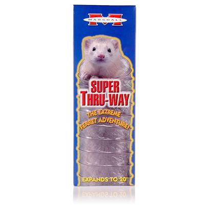 Marshall Presents Ferret Super Thru-Way Toy. The Ferret Supr Tunnel Expands to 20' of Super Ferret Fun. Clear Designs for see through Enjoyment. Excellent Interactive Toy for Ferrets and Owners. [14819]