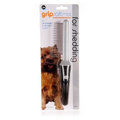Jw Pet Company Presents Jw Pet Company (Jw) Gripsoft Shedding Comb. Chosen by Professional Groomers, Jw's Gripsoft Fine Comb is Used to Loosen and Remove Mats from the Undercoats of Double-Coated Breeds. Ergonomically Designed for Comfortable Use, Making Grooming Time a Pleasurable Experience for you and your Pet. [14965]