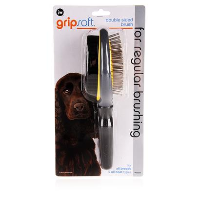 Jw Pet Company Presents Jw Pet Company (Jw) Gripsoft Double-Sided Brush. . With Two SidesOne with Pin Brush and the Other with Bristles, this Brush Tackles Tough Coat Problems Like Mats and Snarls with Ease. [14968]