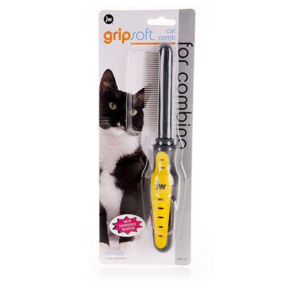 Jw Pet Company Presents Jw Pet Company (Jw) Gripsoft Cat Comb. Will Gently and Effectively Work through Mats and Tangles. It's Designed Specially for Long-Haired Cats. The Comb will also Help Prevent Hairballs by Pulling out Loose and Dead Hair. Not only is the Comb Effective, but the 'Gripsoft' Handle was Designed by Jw in Partnership with Professional Groomers and a Hand Surgeon to Create the Most Comfortable Grip Possible. Whether your Grooming Session Takes a Few Minutes or Many, Many Minutes, your Hand will Stay Relaxed. [14973]