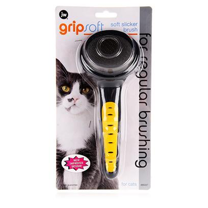 Jw Pet Company Presents Jw Pet Company (Jw) Gripsoft Soft Slicker Brush for Cats. Will Help Keep your Cats Coats Beautiful Even if they have Sensitive Skin. All of Jw's Grooming Tools are Specially Designed to be Ergonomically Correct. [14975]