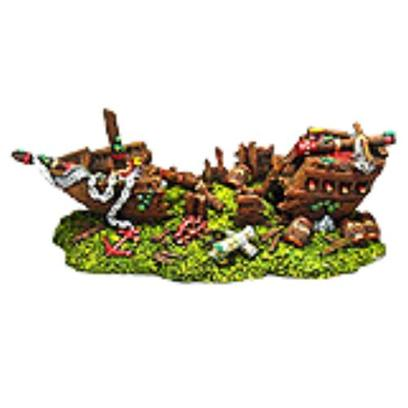 Penn Plax Presents Split Shipwreck Large 11 X 5 4.25. Hand-Painted in Authentic Detail, our Split Shipwreck Ornament is the Ideal Decorative Addition. Safe for all Freshwater and Marine Aquariums. [14986]