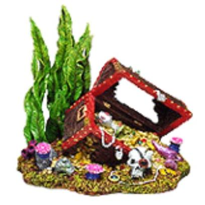 Penn Plax Presents Sunken Treasure Chest Large 7.5'' X 5.5'' 7''. Magnificently Hand-Crafted in Stunning Detail...Safe for all Freshwater and Marine Aquariums. [14990]