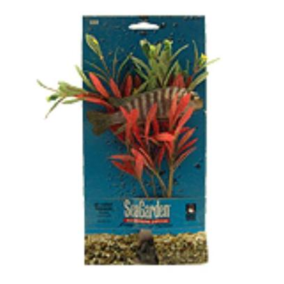Penn Plax Presents Seagarden Nesaea Stands 10''. Fill your Aquarium with the Look of Live Plants, without the Work, Maintenance, or Expense. [15103]