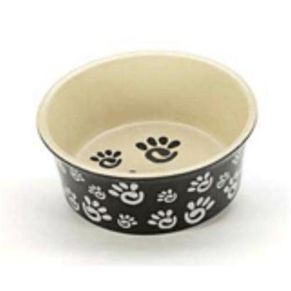 Ethical Presents Spot Paw Print Wide Rim Ceramic Bowls 6''. Spot Paw Print Wide Rim Ceramic Bowls are High Quality Ceramic Bowls that lets your Pet Dine Comfortably and in Style. Besides their Utility, these Ceramic Bowls Feature a Cute Paw Print that Adds a Fun Element of Style to your Pet's Bowls and to your Home. [15080]