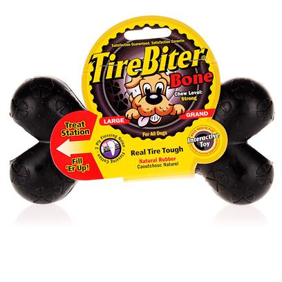 Mammoth Presents Tirebiter Bone Small. The Tirebiter Bone is a Durable Chew Toy for Dogs that is Non-Toxic and Tested Safe for Dogs. This Pet Supply, Made of Recycled Tire, will Soon Become your PetS Favorite Toy. [15348]