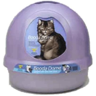Petmate Presents Booda Dome Litter Box Pearl. The Covered Litter Box with Style. Designed to Fit any Room Dcor. Provides Privacy and Cleanliness. [15632]