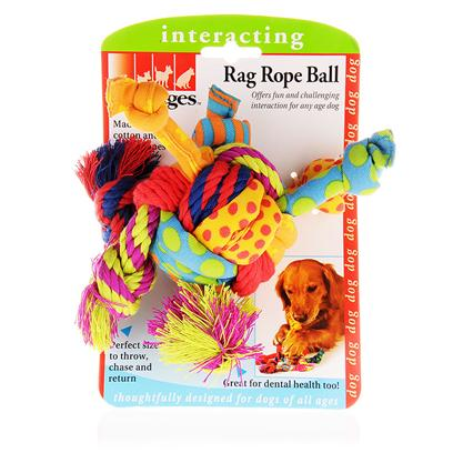 Petstages Presents Petstages Rag Rope Ball. Keeps your Dog Interested in Fetch! The Rope/Denim Arms Slow the Speed of the Ball, Allowing Even the Less Agile Dog to Site and Retrieve! [15782]