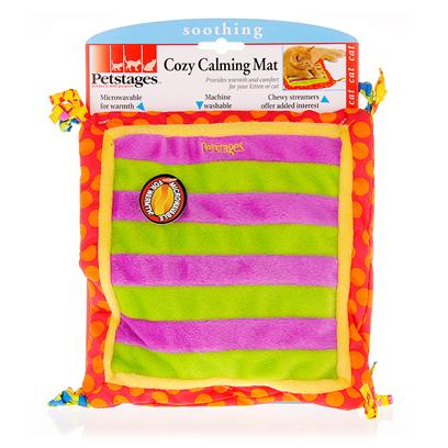 Petstages Presents Petstages Cozy Calming Mat. . Simply Microwave the Mat and Place with your Kitten or Cat when they're Ready for Bed, or any Other Time they Need Comfort. [15788]