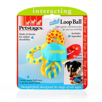 Petstages Presents Petstages Mini Loop Ball. Sized for the Toy Sized Dog, the Mini Loop Ball Adds to the Offerings Petstages has Introduced for the Smallest Breeds. Made of Denim for Added Durability Perfect Size to Chase and Return Loops Make Ball Easy to Grasp and Return [15798]