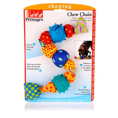Petstages Presents Petstages Chew Chain. Keeps a Dog'S Interest, while Helping to Enhance Health of Teeth and Gums. The Canvass Fabric Rope Helps Remove Soft Tartar Before it can Lead to Poor Dental Health. This Toy is Perfect for Chewing or Playing. [15805]