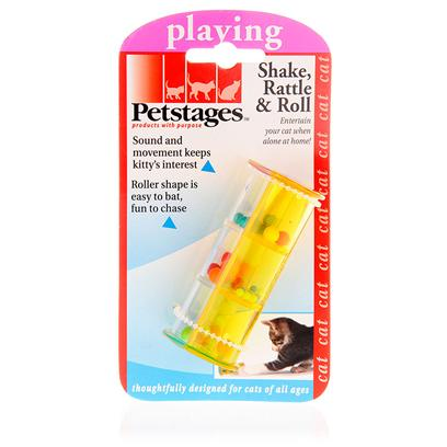 Petstages Presents Petstages Shake Rattle & Roll for Cats. Keep Kitty Entertained and Interested for Hours as she Bats and Chases the Colorful Shake Rattle and Roll Toy. This Lightweight Toy will Scoot and Rattle as your Cat Follows for Hours of Fun! [15818]
