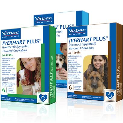 Buy Iverhart Plus for Dogs products including Iverhart Plus 51 to 100lbs 6 Month Supply, Iverhart Plus 51 to 100lbs 12 Month Supply, Iverhart Plus 26 to 50 Lbs 6 Month Supply, Iverhart Plus Up to 25 Lbs 6 Month Supply Category:Deworming Price: from $22.39